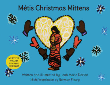 Metis Christmas Mittens Cover